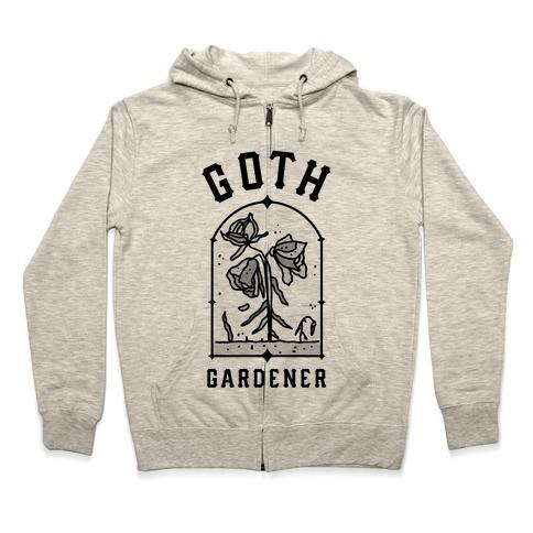 Goth Gardener Zip Hoodie
