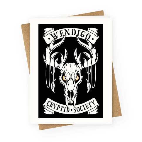Wendigo Cryptid Society Greeting Card