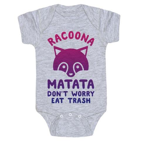 Raccoona Matata Ombre Baby Onesy