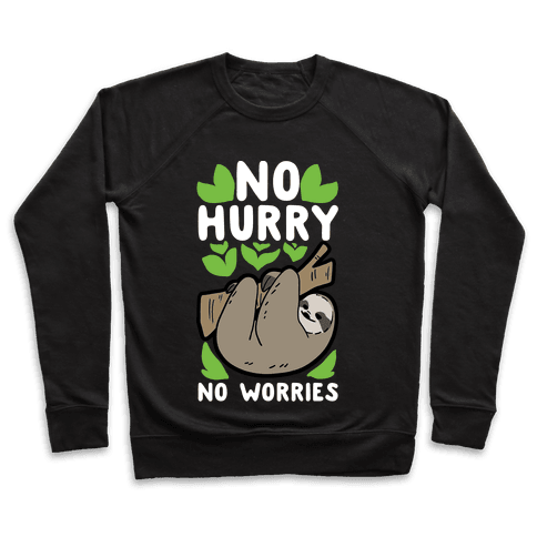 No Hurry, No Worries - Sloth Pullover