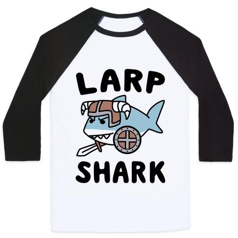 Larp Shark Baseball Tee