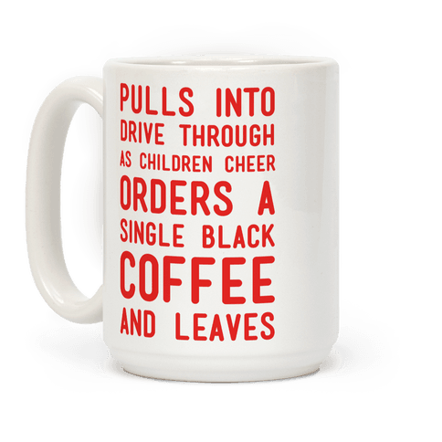 Single Black Coffee Coffee Mug