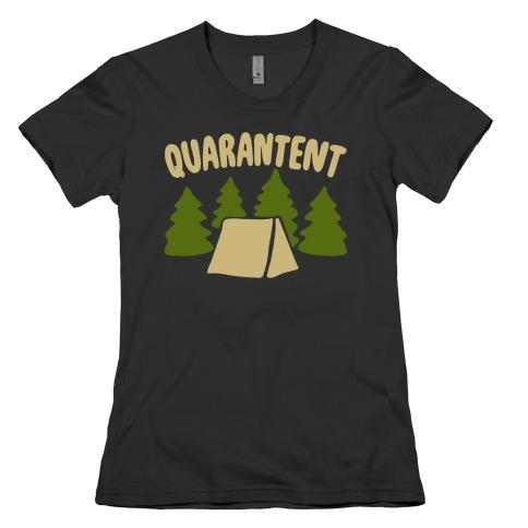 Quarantent White Print Womens T-Shirt