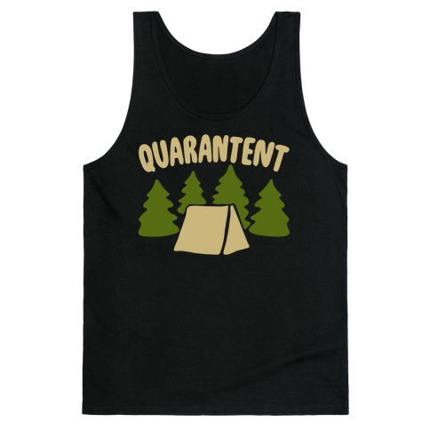 Quarantent White Print Tank Top
