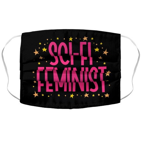 Sci-Fi Feminist Accordion Face Mask