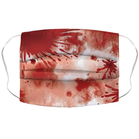 Blood Stained Accordion Face Mask