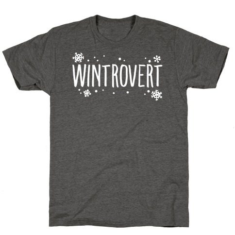 Wintrovert White Print T-Shirt