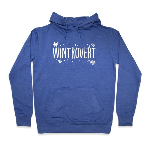 Wintrovert White Print Hooded Sweatshirt