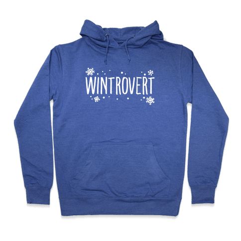 Wintrovert White Print Hooded Sweatshirt