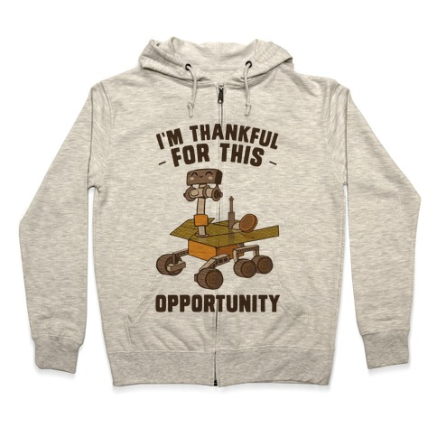 I'm Thankful For this OPPORTUNITY!  Zip Hoodie
