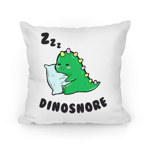 Dinosnore Pillow
