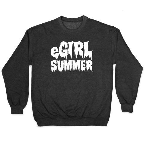 Egirl Summer Parody White Print Pullover