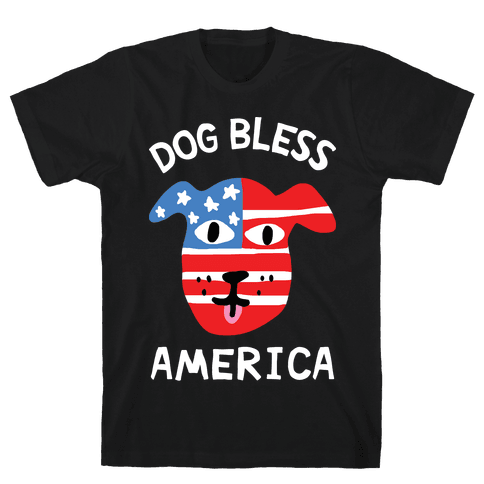 Dog Bless America Mens T-Shirt
