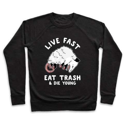 Live Fast Eat Trash Die Young Pullover