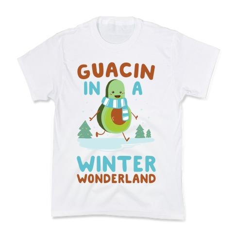Guacin' In a Winter Wonderland Kids T-Shirt