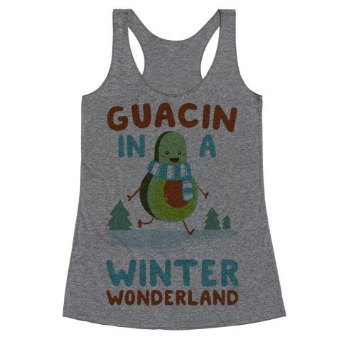 Guacin' In a Winter Wonderland Racerback Tank Top
