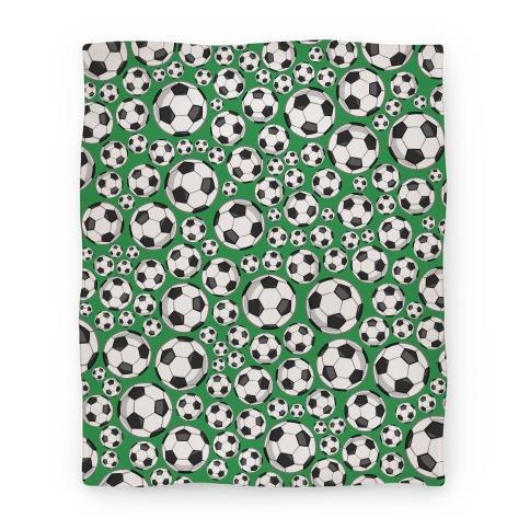Soccer Balls Pattern Blanket
