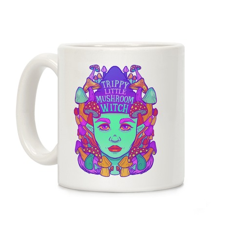 Trippy Little Mushroom Witch Coffee Mug