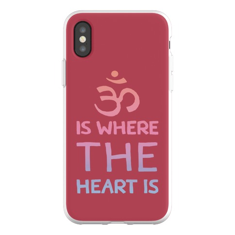 Om Is Where The Heart Is Phone Flexi-Case