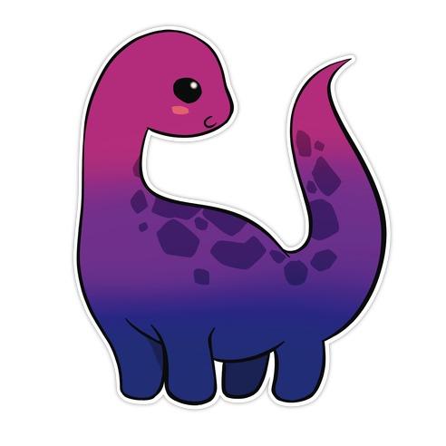 Bisexual-Dino Die Cut Sticker