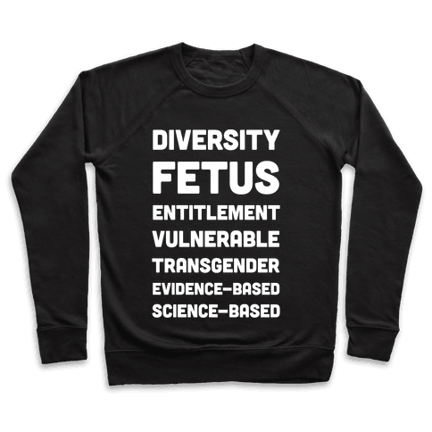 CDC Banned Words Pullover