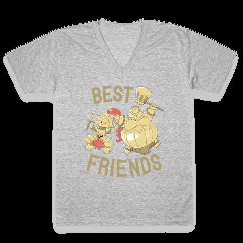 Best Friends Ornstein and Smough V-Neck Tee Shirt