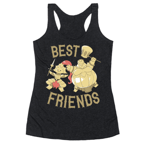 Best Friends Ornstein and Smough Racerback Tank Top