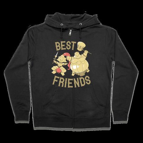 Best Friends Ornstein and Smough Zip Hoodie