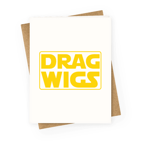 Drag Wigs Greeting Card