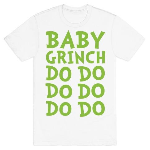 Baby Grinch Baby Shark Parody T-Shirt