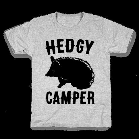 Hedgy Camper Kids T-Shirt