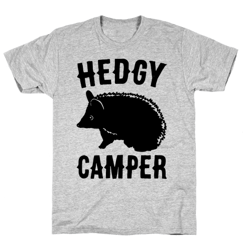 Hedgy Camper Mens T-Shirt