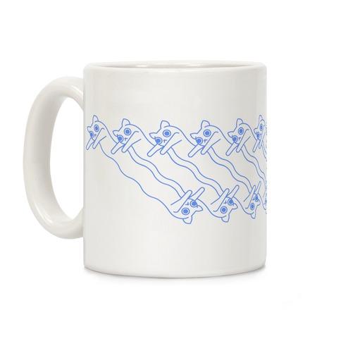 Long Cat Pattern Coffee Mug