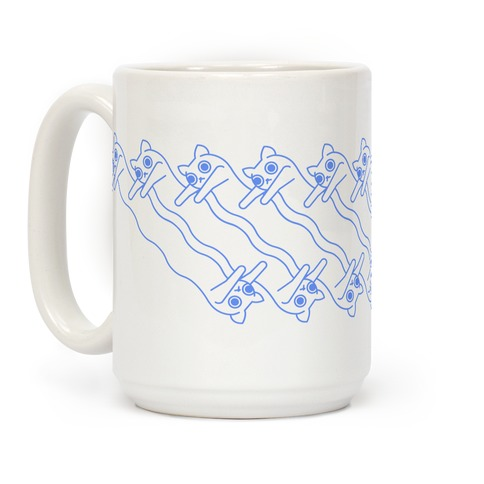 Long Cat Pattern Coffee Mug