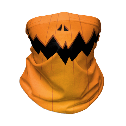 Jack-o-lantern mouth Neck Gaiter