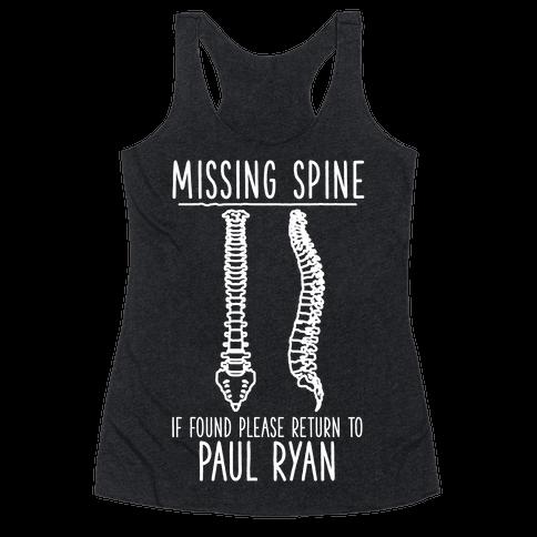 Missing Spine Racerback Tank Top