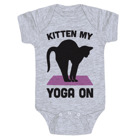 Kitten My Yoga On Baby Onesy