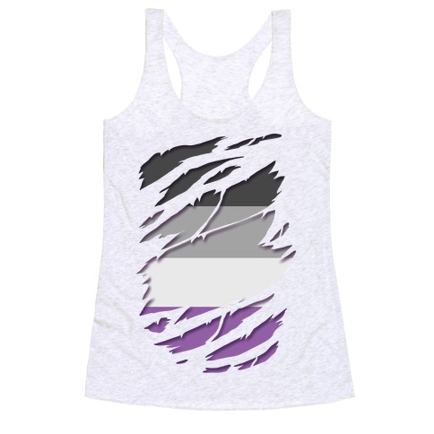 Ripped Shirt: Ace Pride Racerback Tank Top