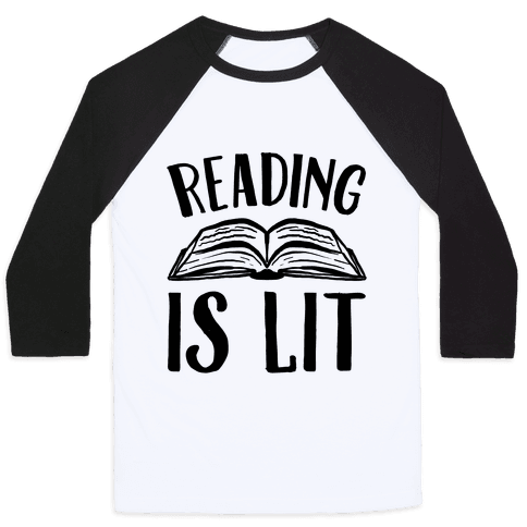 Reading Is Lit Baseball Tee