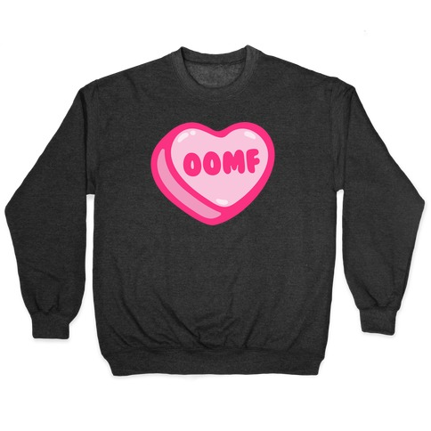 OOMF Candy Heart White Print Pullover