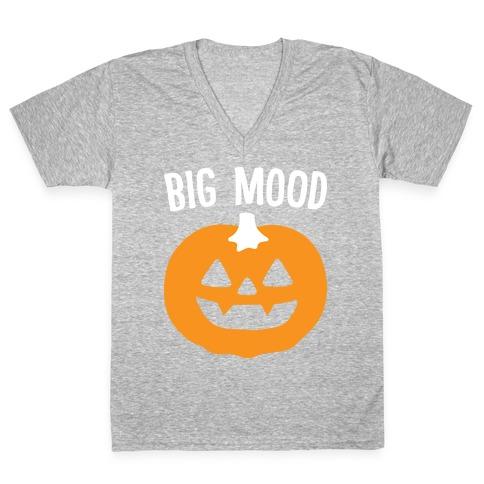 Big Mood Jack-o-lantern V-Neck Tee Shirt