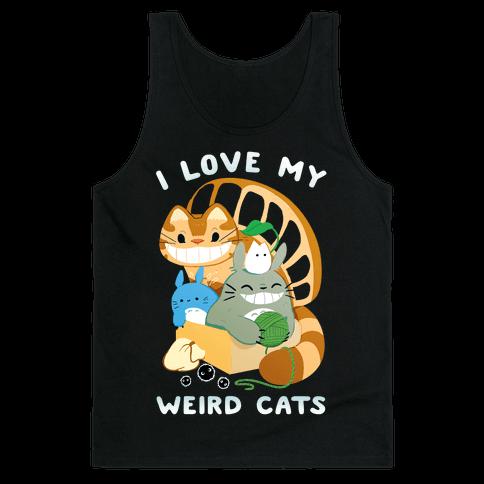 I love my weird cats Tank Top