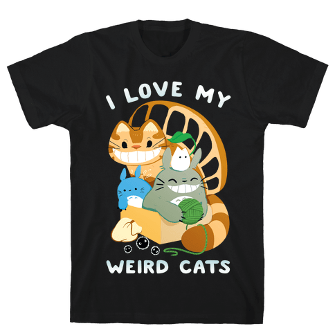 I love my weird cats Mens/Unisex T-Shirt