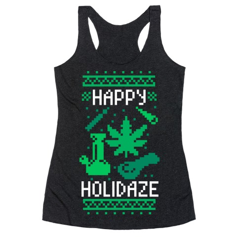 Happy Holidaze Racerback Tank Top