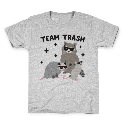 Team Trash Opossum Raccoon Rat Kids T-Shirt