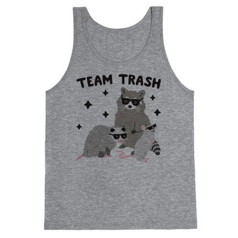 Team Trash Opossum Raccoon Rat Tank Top