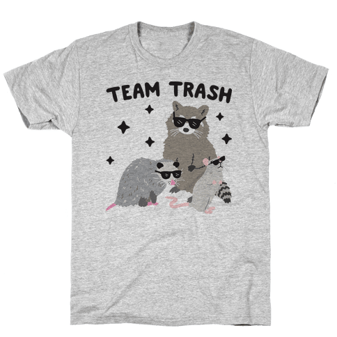 Team Trash Opossum Raccoon Rat Mens T-Shirt