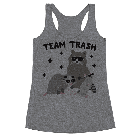 Team Trash Opossum Raccoon Rat Racerback Tank Top