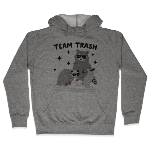 Team Trash Opossum Raccoon Rat Hooded Sweatshirt