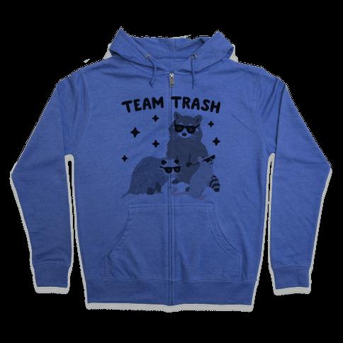 Team Trash Opossum Raccoon Rat Zip Hoodie